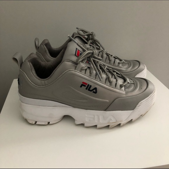 a6ba8ef57182 Barneys New York Shoes - FILA X Barney s Disruptor 2 Metallic Silver